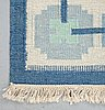 A carpet, flat weave, ca 197 x 147,5 cm, second half of the 20th century.