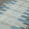 A carpet, flat weave, ca 245 x 154-155 cm, signed ml, kasthall.