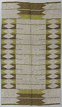 A carpet, a machine-made double weave, ca 230,5 x 148,5 cm, Sweden.