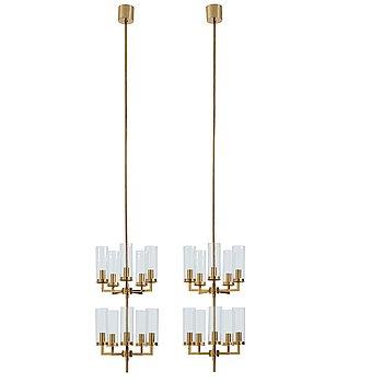 "17. Hans-Agne Jakobsson, a pair of ""Sonata"" ceiling lamps, Hans Agne Jakobsson AB, Markaryd, Sweden, 1960-1970's."