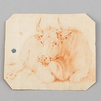 Philips Wouwerman, attributed to, red chalk.