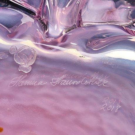 """Hanna hansdotter, a """"dripping print"""" glass sculpture, the glass factory, boda glasbruk, sweden 2018."""