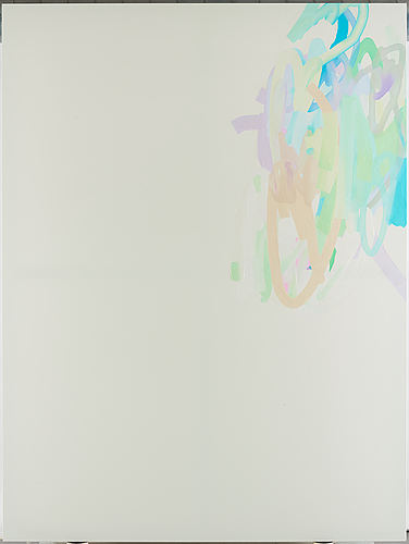 Michael manning, signed on verso. acrylic on canvas.