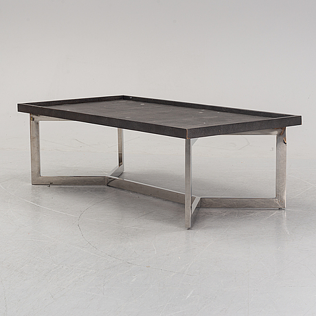 A contemporary coffee table.
