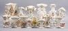 Parti vaser, 25 st, porslin, sent 1800-tal till tidigt 1900-tal.