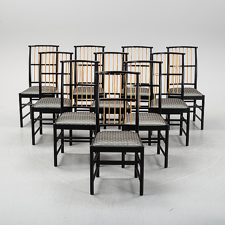 Josef frank, a set of 10 model 2025 chairs, firma svenskt tenn.