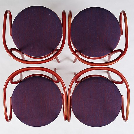 Jan bocan, a table and four chairs for the czechoslovakian embassy in stockholm 1972, produced by thonet.