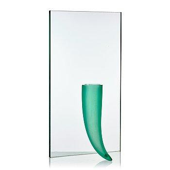 """98. Philippe Starck, """"Petite Etrangete Contre Un Mur"""", a sculpture/vase, ed. 50/50, Daum, Nancy, France, 1980's."""