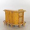 P.c bonacina, italien, bar counter, 4 stools / bar stools, bamboo, 1950s.