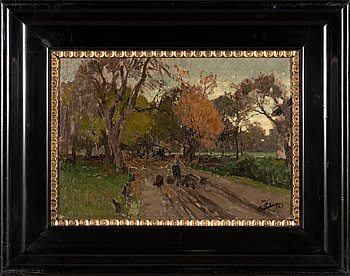 Unknown artist, oil on panel, stamp signed C. Ludwig and numbered 14/10 87.