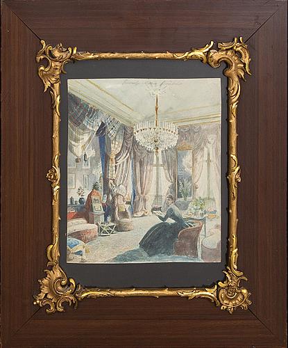 Okänd konstnär 1800-tal , watercolour signed.