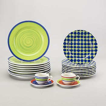 "Designers guild dinner service 27 dlr Rosenthal ""Casuals"" Orchard collection, porcelain."