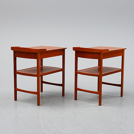 Carl malmsten, a pair of 'birgitta' bedside tables.
