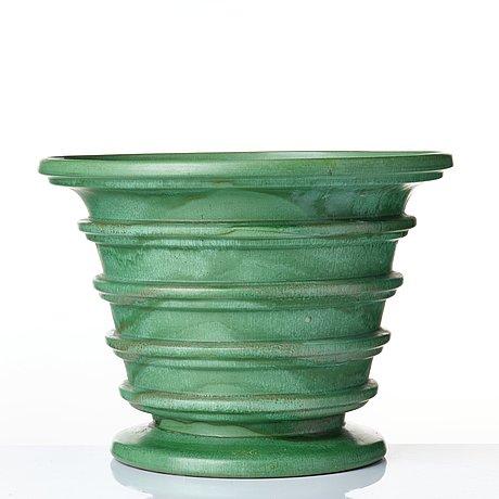 Arthur percy, a large ceramic garden flower pot, gefle, sweden, ca 1930.