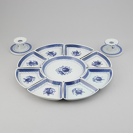 Aluminia tranquebar, dinner ware, ca 107 pieces.