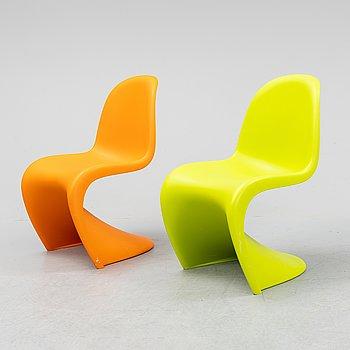 "Verner Panton, a pair of ""Panton Junior"" children's chairs for Vitra."