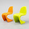 "Verner panton, a pair of ""panton junior"" children's chairs for vitra."