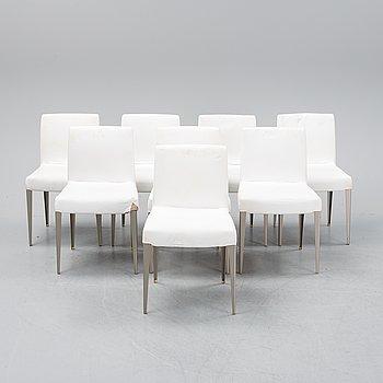 "Antonio Citterio, a set of eight ""Melandra chairs for B&B Italia."