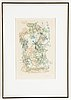 Camille bryen, etching, signed and numbered 55/100.