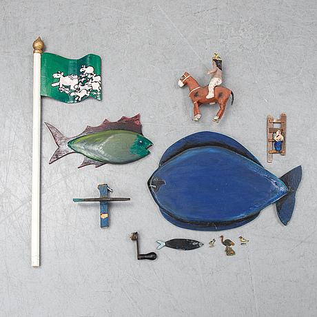 Bengt elde, relkief, wood, mixed media, signed.