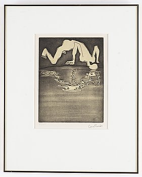 Robert Couturier, etching and aquatint, signed and numbered 55/100.
