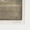 Robert couturier, akvatintetsning, signerad och numrerad 55/100.