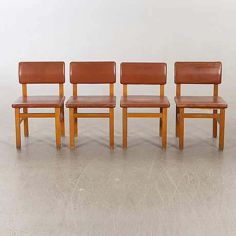 John kandell, chairs 8 by je blomqvist furniture factory uppsala, 1960s.
