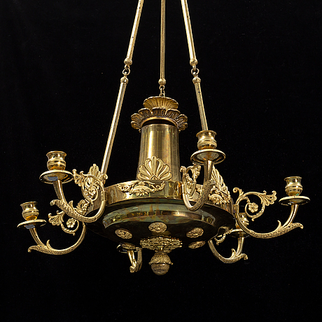 An empire-style ceiling light, first half of the 20th century.