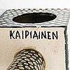 Birger kaipiainen, a stoneware table clock signed kaipiainen.