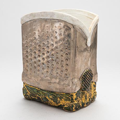 Zoltan popovits, a ceramic vase signed popovits arabia.