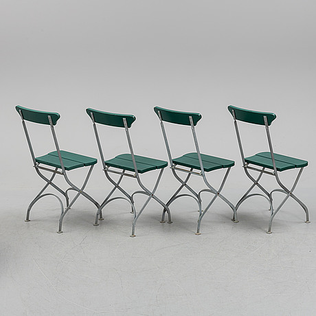 Four garden chairs and table, byarums bruk, vaggeryd.
