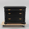 A painted chest of drawers, circa 1900.