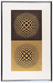 Victor Vasarely, silkscreen in colours, 1976, signed 170/225.