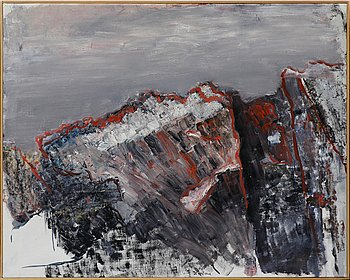 Ingegerd Möller, oil on canvas. Signed.