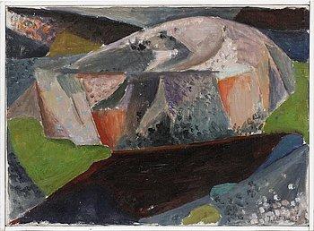 Ingegerd Möller, oil on cavas. Signed and dated -53.
