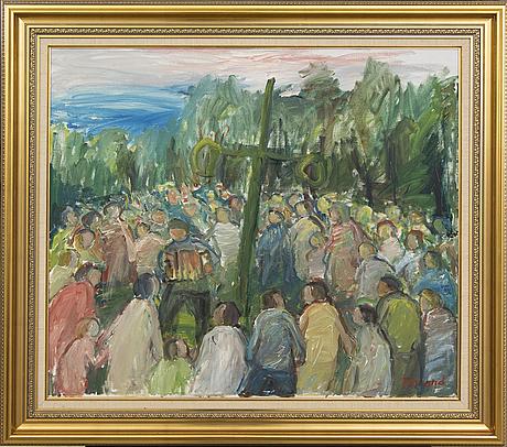 Einar emland,  oil on canvas, signed.