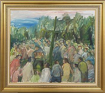 Martin Emond, Martin Emond, oil on canvas, signed, midsummer.