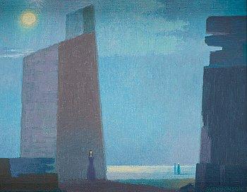"""612. Sven Jonson, """"Klippor i månsken""""."""