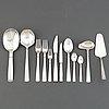 Jacob ängman, a 'rosenholm' silver cutlery service, gab, (114 pieces).