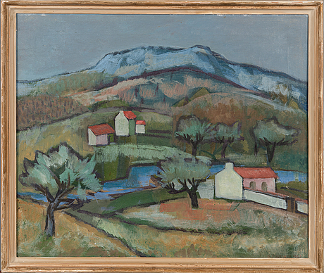 Olli poutanen, oil on canvas, signed and dated 1963.