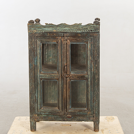 An indian 19720th century painted cupboard.