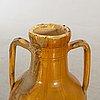 "Olive oil jar ""orcio puglia"", apulia italy 19th century glazed terracotta."
