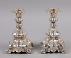Ljusstakar, ett par, silver, rokokostil. 830s.