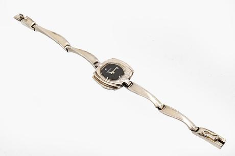 Lapponia wristwatch, sterling silver, 20 x 20 mm, quartz, finland 1981.