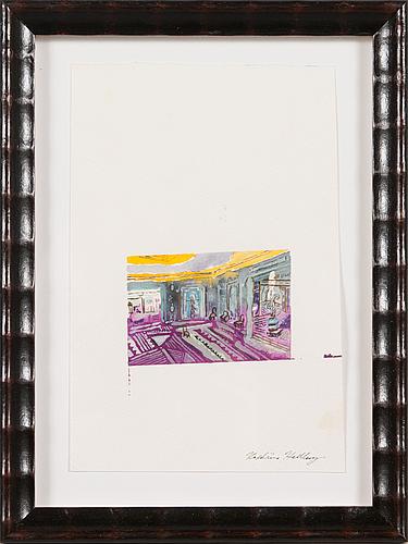 Karoliina hellberg, water colour, signed.