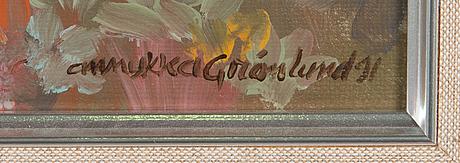 Annukka grönlund, oil on canvas, signed and dated -91.