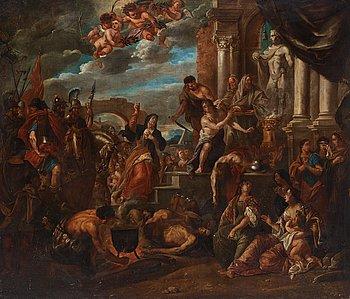 629. Anton (Antoni) Goubau Attributed to, Antique scene with Alexander the Great.