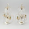 A pair of early gustavian style 20th century table chandeliers.