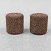 "Jasper morrisson, 2+1 small side table/stools, ""mooi corks"", designed in 2002."
