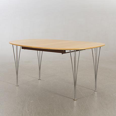 """Piet hein & bruno mathsson table, """"superellips"""", bruno mathsson international, second half of the 20th century."""